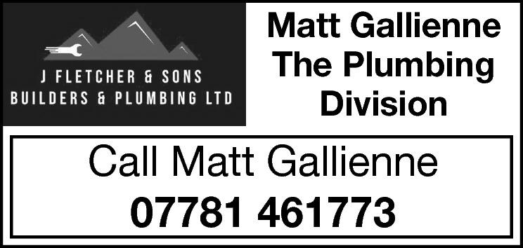 Matt Gallienne The Plumbing Division  Call Matt Gallienne 07781 461773