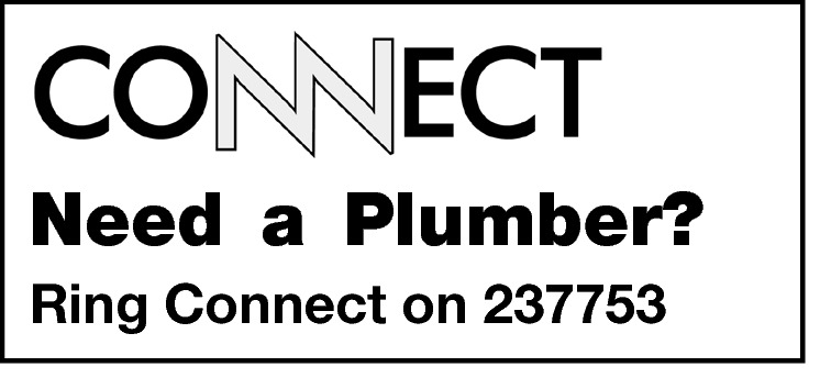 Need a Plumber? Ring Connect on 237753