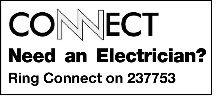 Need an Electrician? Ring Connect on 237753