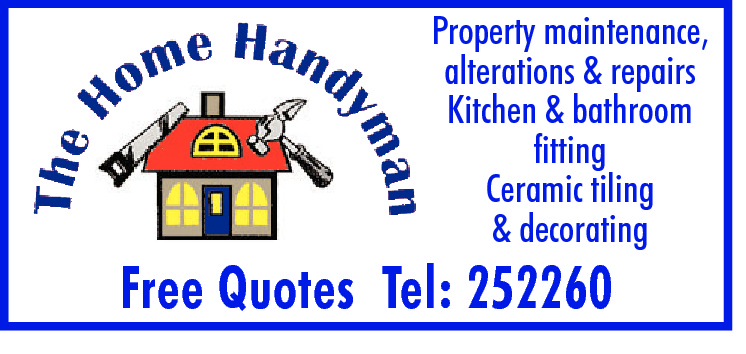 Property maintenance, alterations & repairs Kitchen & bathroom fitting Ceramic tiling & decorating  Free Quotes Tel: 252260