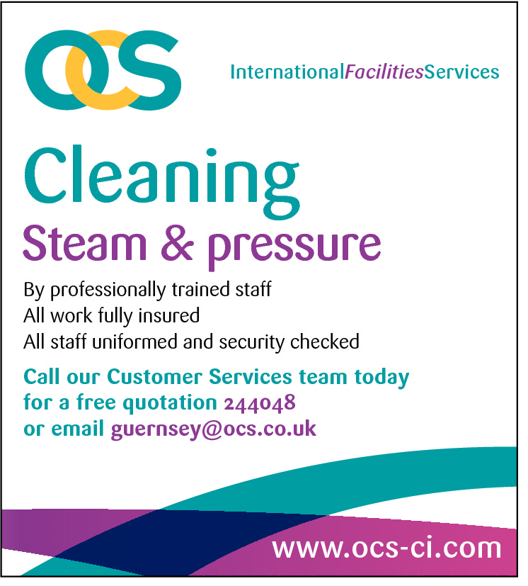 InternationalFacilitiesServices  Cleaning  Steam & pressure By professionally trained staff All work fully insured All staff uniformed and security checked  Call our Customer Services team today for a free quotation 244048 or email guernsey@ocs.co.uk  www.ocs-ci.com