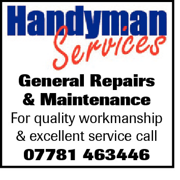 General Repairs & Maintenance  For quality workmanship & excellent service call  07781 463446