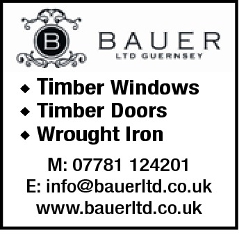 ◆ Timber Windows ◆ Timber Doors ◆ Wrought Iron M: 07781 124201 E: info@bauerltd.co.uk www.bauerltd.co.uk