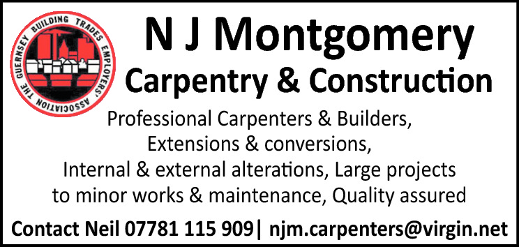 N J Montgomery  Carpentry & Construction  Professional Carpenters & Builders, Extensions & conversions, Internal & external alterations, Large projects to minor works & maintenance, Quality assured Contact Neil 07781 115 909