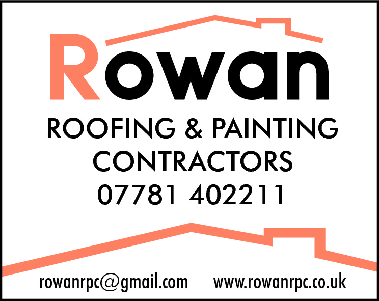 ROOFING & PAINTING CONTRACTORS 07781 402211 rowanrpc@gmail.com  www.rowanrpc.co.uk