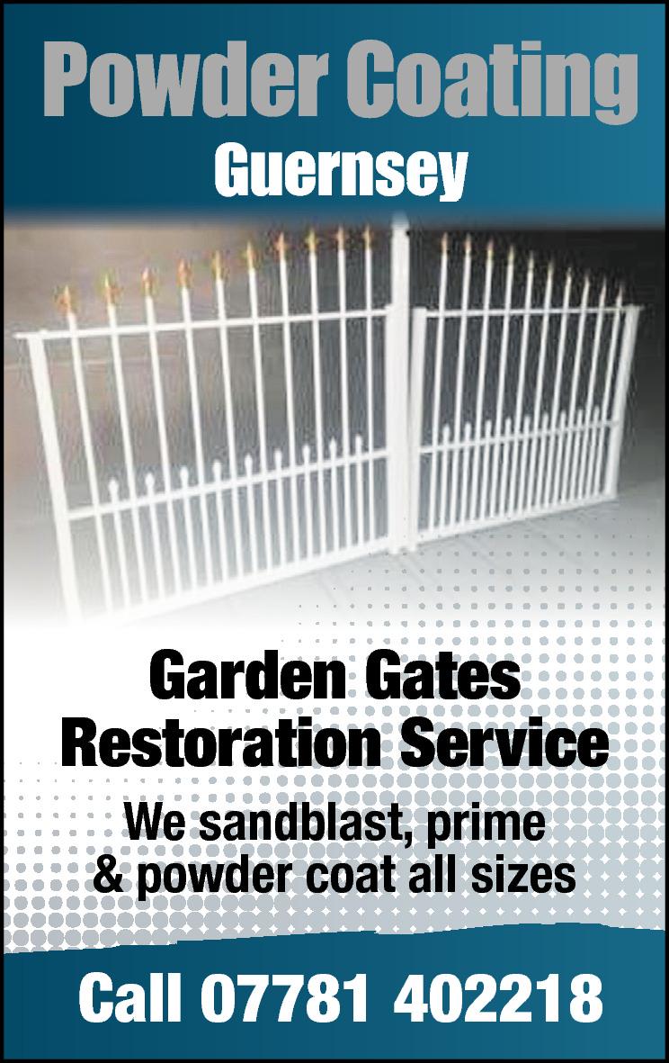 Powder Coating Guernsey y  Garden Gates Restoration Service We sandblast, prime & powder coat all sizes  Call 07781 402218