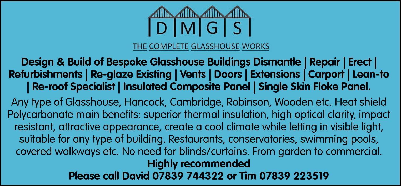 Design & Build of Bespoke Glasshouse Buildings Dismantle