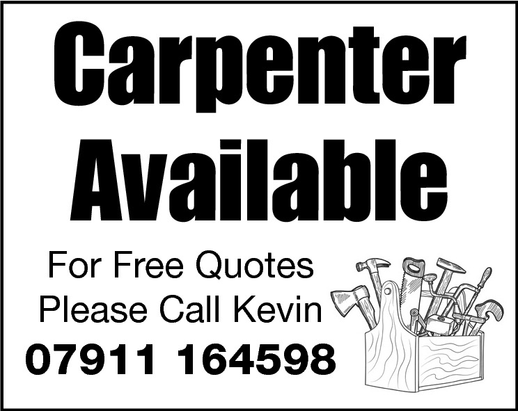 Carpenter Available  For Free Quotes Please Call Kevin  07911 164598